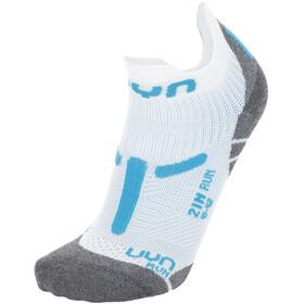 "UYN 2"" Running Socks Women, biały/turkusowy"